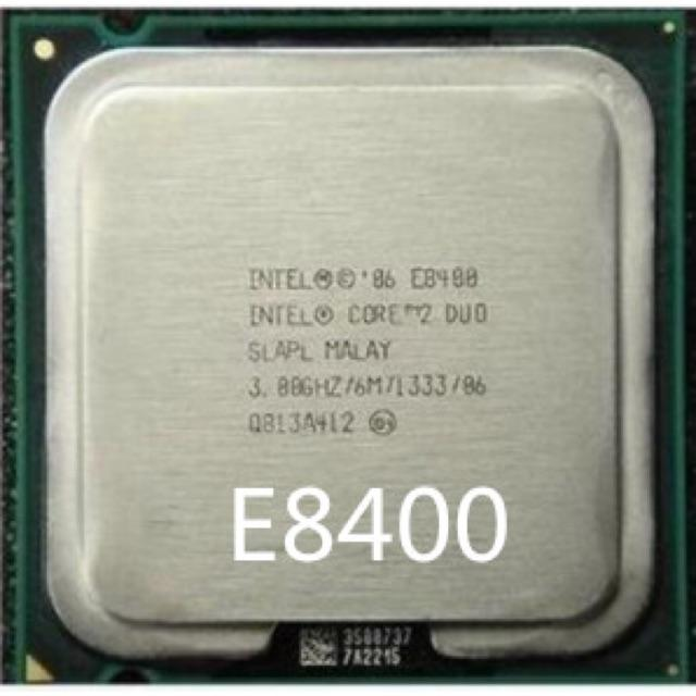 CPU Intel Core2 Duo Desktop E8400 (3.00GHz, 6MB L2 Cache, Socket 775, 1333MHz FSB)