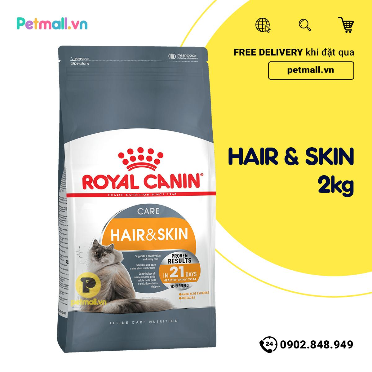 Offer Khuyến Mãi Thức ăn Mèo Royal Canin HAIR SKIN Care 2kg - Dưỡng Da Và Lông