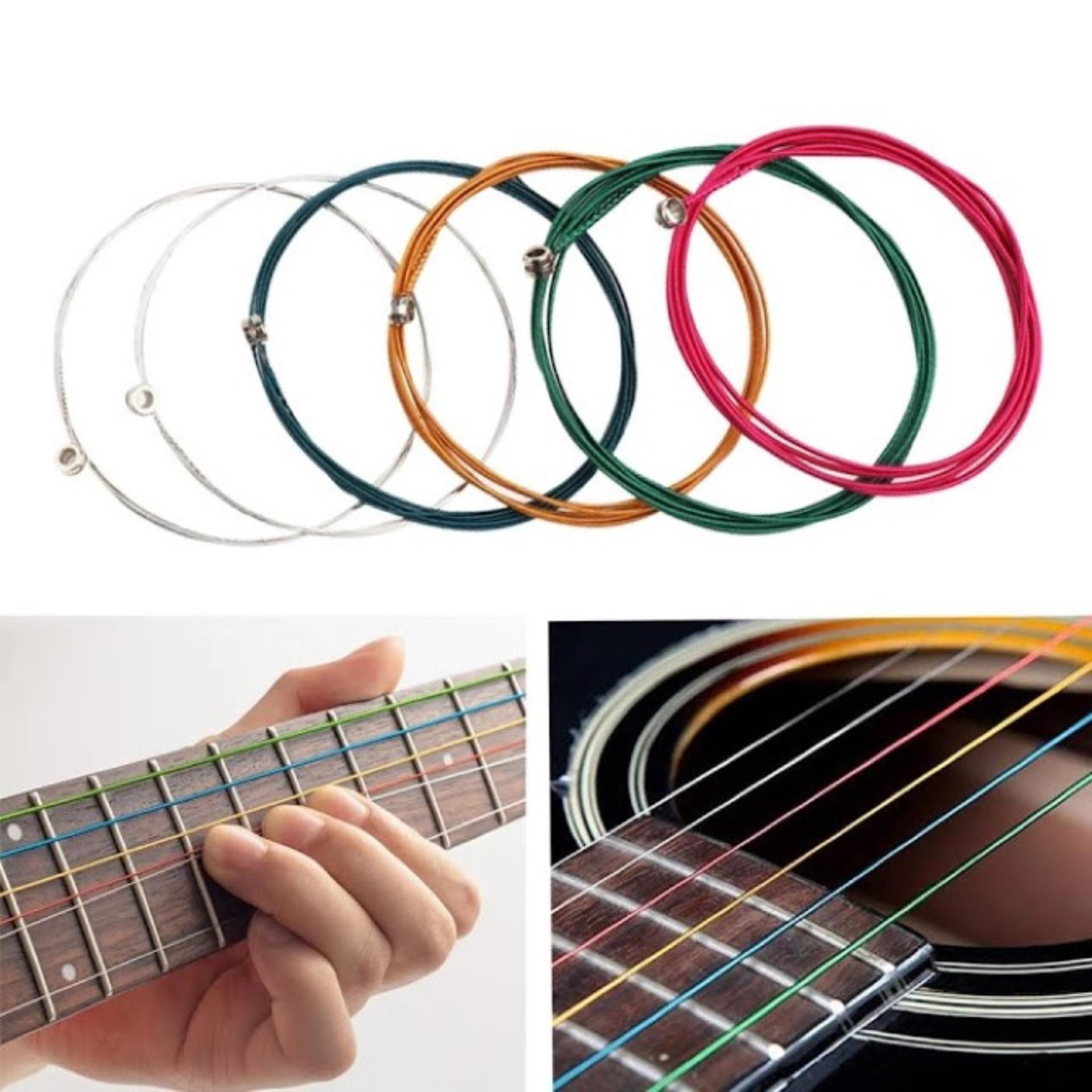 Dây đàn Guitar Acoustic Màu Đang Khuyến Mãi