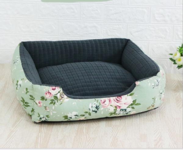Đệm ngủ cho thú cưng thiết kế caro siêu dễ thương, nệm ngủ mềm mại cho chó mèo