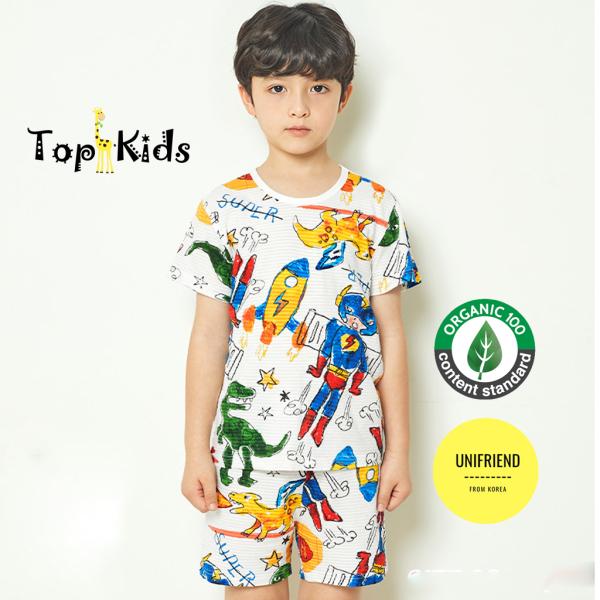 Nơi bán Bộ đồ COTTON cao cấp, bé trai, bé gái Hình dễ thương-SIÊU ANH HÙNG - Unifriend Hàn Quốc -bộ cộc tay mùa hè, từ 10- 60kg, Topkid_vietnam