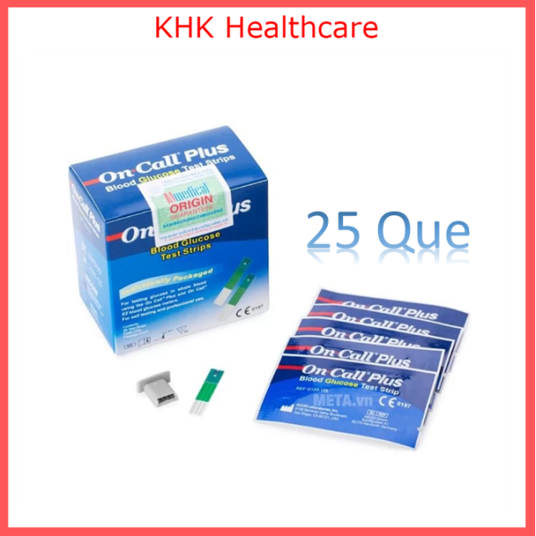 Que Thử Đường Huyết On Call Plus hộp 25 que date 2022 KHK Healthcare