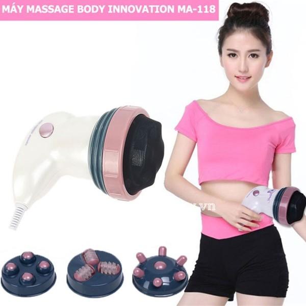 Máy massage cầm tay Body Innovation MA-118 - 4 đầu, máy massge cầm tay giảm mỡ toàn thân - Body Innovation Chất Lượng Cao Giá Rẻ - Giúp lưu thông tuần hoàn khí huyết - giảm căng thẳng, đau nhức cao cấp
