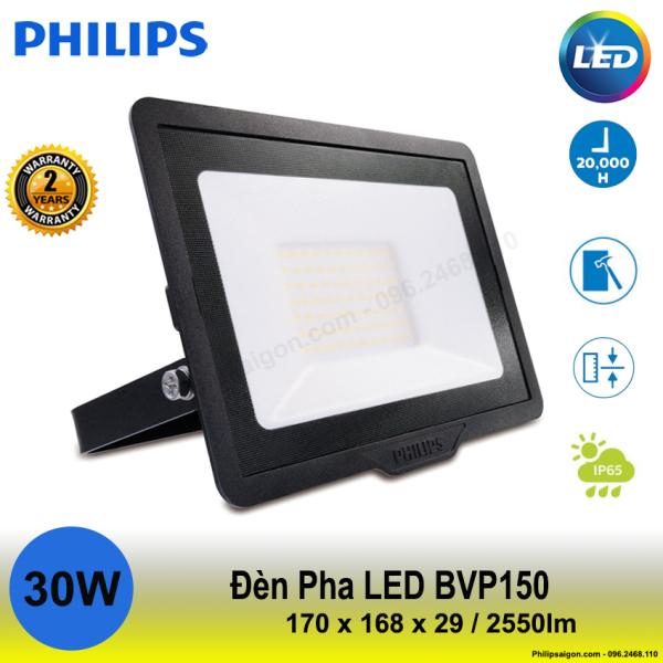 Đèn pha Philips Led BVP 150 30W ánh sáng Trắng / vàng / hoặc trung tính, Độ kín IP65, Vỏ nhôm đúc chắc chắn, mỏng gọn Driver tích hợp - 24 tháng bảo hành - PhilipSaigon