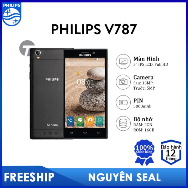 Điện thoại Philips V787 (2GB/16GB) - PIN cực lớn 5000mAh, Bảo hành 12 tháng