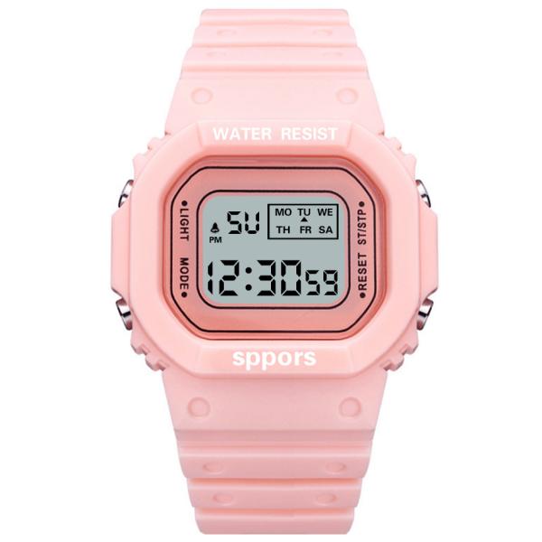 Nơi bán Đồng hồ nữ thời trang Sport Phiên bản Hàn QUốc Mặt vuôngdây nhựa silicon cao cấp