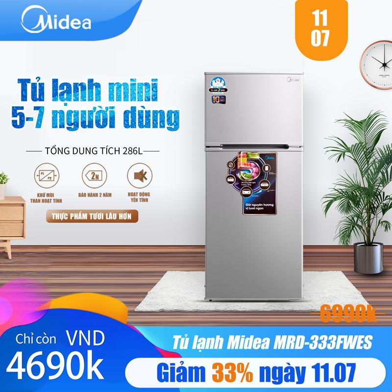 Tủ Lạnh Midea MRD-333FWES 268 Lít - Phù Hợp Gia đình 5-7 Người - Thiết Kế Cao Cấp - Hàng Chính Hãng Bảo Hành 2 Năm. Giá Giảm