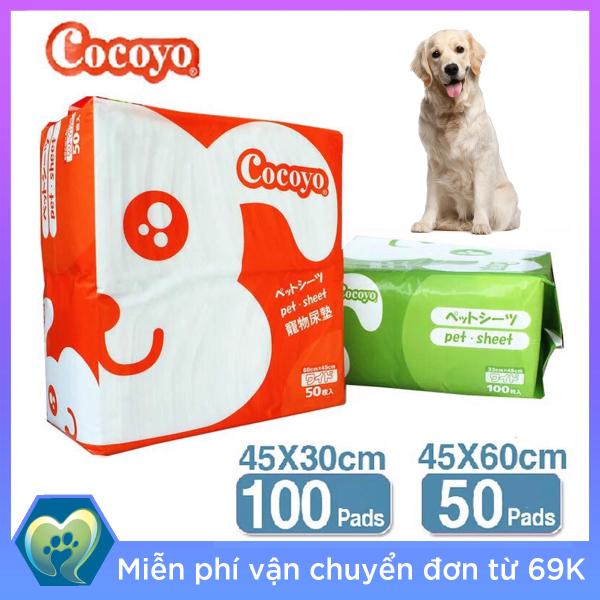 Tấm lót vệ sinh Cocoyo 50 miếng 45x60cm cho chó mèo Xuất sứ Nhật Bản