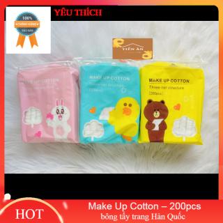 bông tẩy trang Hàn Quốc Make Up Cotton 200pcs thumbnail
