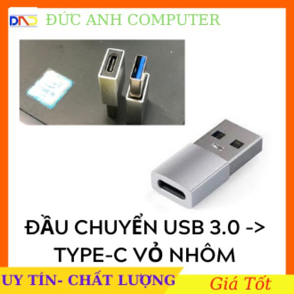 Bảng giá Đầu Cắm Chuyển Đổi Cổng Usb 3.0 Type A Sang USB 3.1 Type C Vỏ Nhôm , Usb To Type C, Full Box Phong Vũ