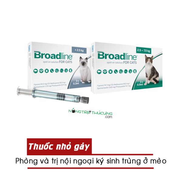 Nhỏ gáy Broadline cho mèo - 1 Hộp 3 tuýp - [Nông Trại Thú Cưng]