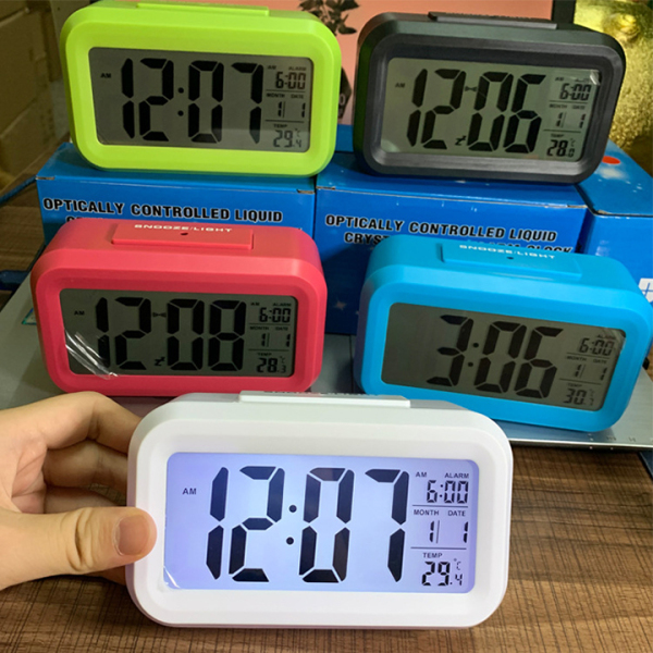 (TẶNG 3 PIN) Đồng Hồ Để Bàn Màn Hình Led - Đủ 5 Màu, Kèm Nhiệt Kế. Đồng hồ báo thức - Đồng Hồ Điện Tử Để Bàn - DH011