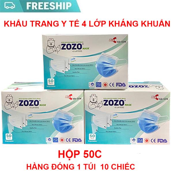 Hộp 50 Khẩu Trang Y Tế Cao Cấp Loại 4 Lớp ZOZO MASK BIG C Sài Gòn giá rẻ