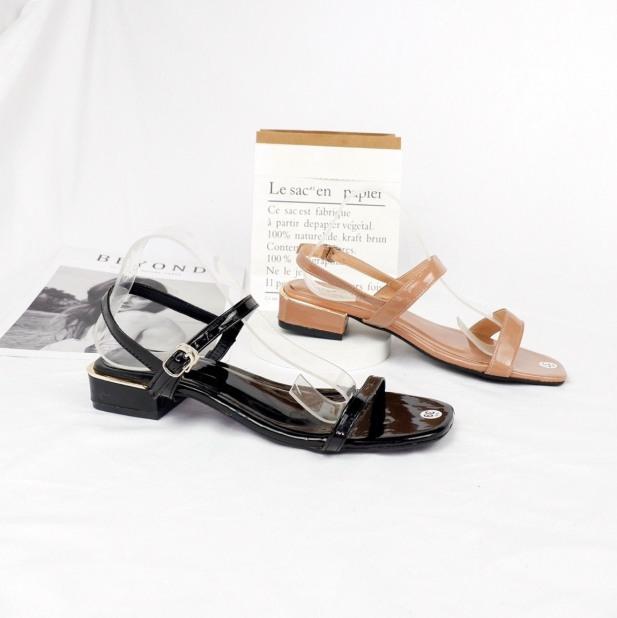 Giày cao gót/sandal nữ quai mảnh gót 2cm cực xinh phong cách Hàn Quốc siêu hot giá rẻ