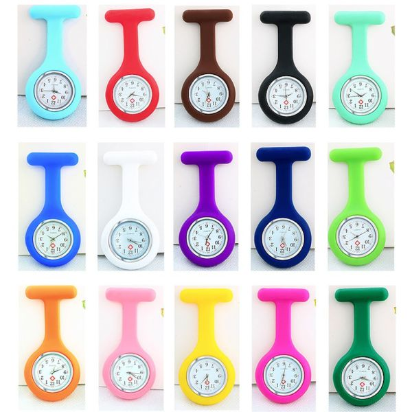 EWELLBE Unisex Lapel Watches with Second Hand Multi Colors Gift Nursing Clip On Nurse Watch Fob