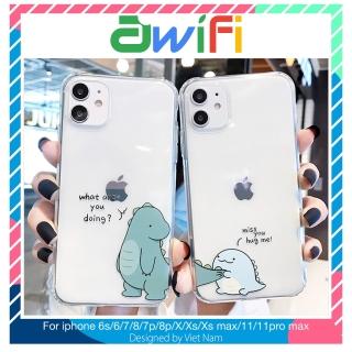 Ốp lưng iphone dino miss you trong suốt đủ mã từ 6 6plus 6s 6splus 7 7plus 8plus xsmax 11 12 pro max plus promax- Awifi case t20 thumbnail
