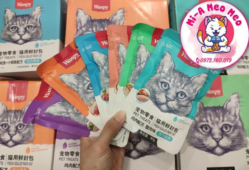 PATE WANPY cho mèo gói 80gr