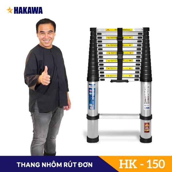 THANG NHÔM RÚT ĐƠN NHẬT BẢN HAKAWA HK-150 5M - NHỎ GỌN CHẮC CHẮN - HÀNG CHÍNH HÃNG