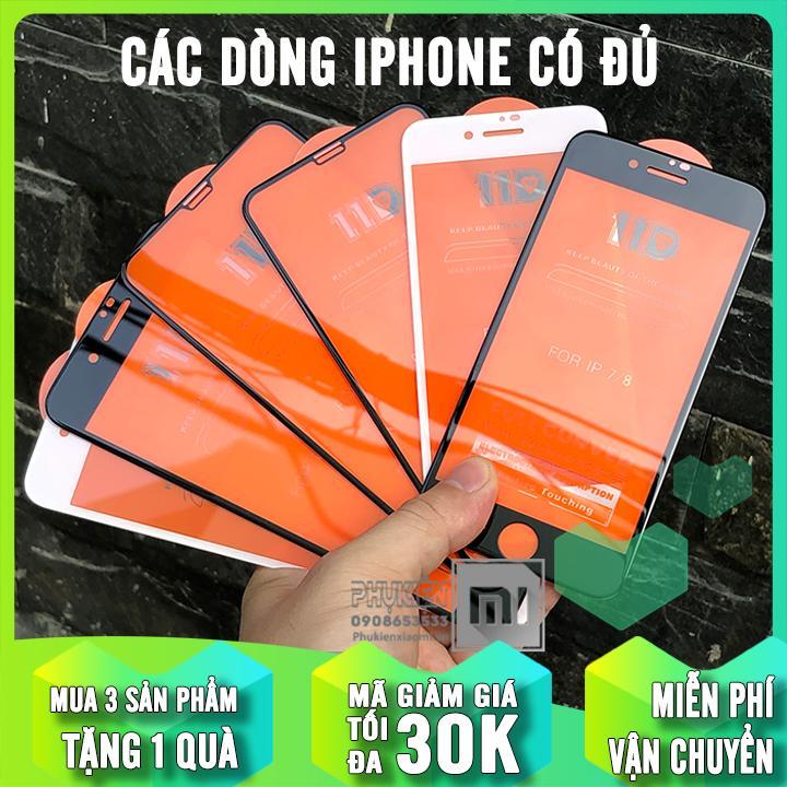 [MUA 1 TẶNG 1] Kính Cường Lực 11D Cho IPhone6-7-8 / 6-7-8 Plus / X-Xs / Xs Max / IPhone 11 / IPhone 11 Pro / IPhone 11 Pro Max Full Viền Đen MIETUBL Cùng Giá Khuyến Mãi Hot