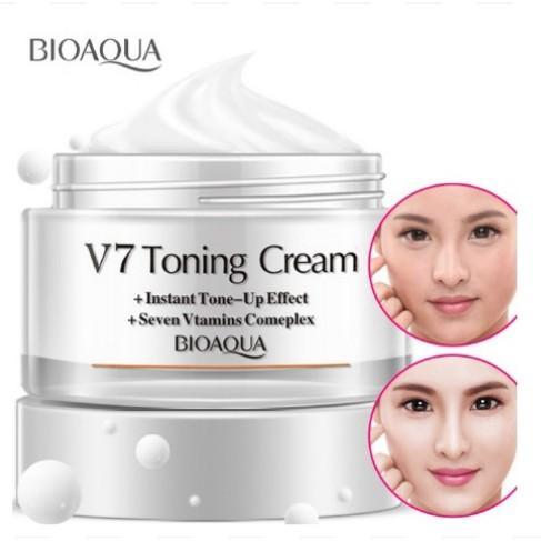 Offer Ưu Đãi Kem Dưỡng Trắng Và Làm Sáng Da V7 Toning Cream Bioaqua 50g