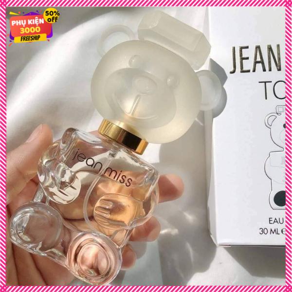Nước hoa nữ JEAN MISS TOYS mùi hương ngọt nhẹ nhàng thơm lâu cho mùa đông vỏ hình gấu dễ thương đẹp cao cấp giá rẻ bình dân dung tích 30ml - nuoc hoa nu gia re