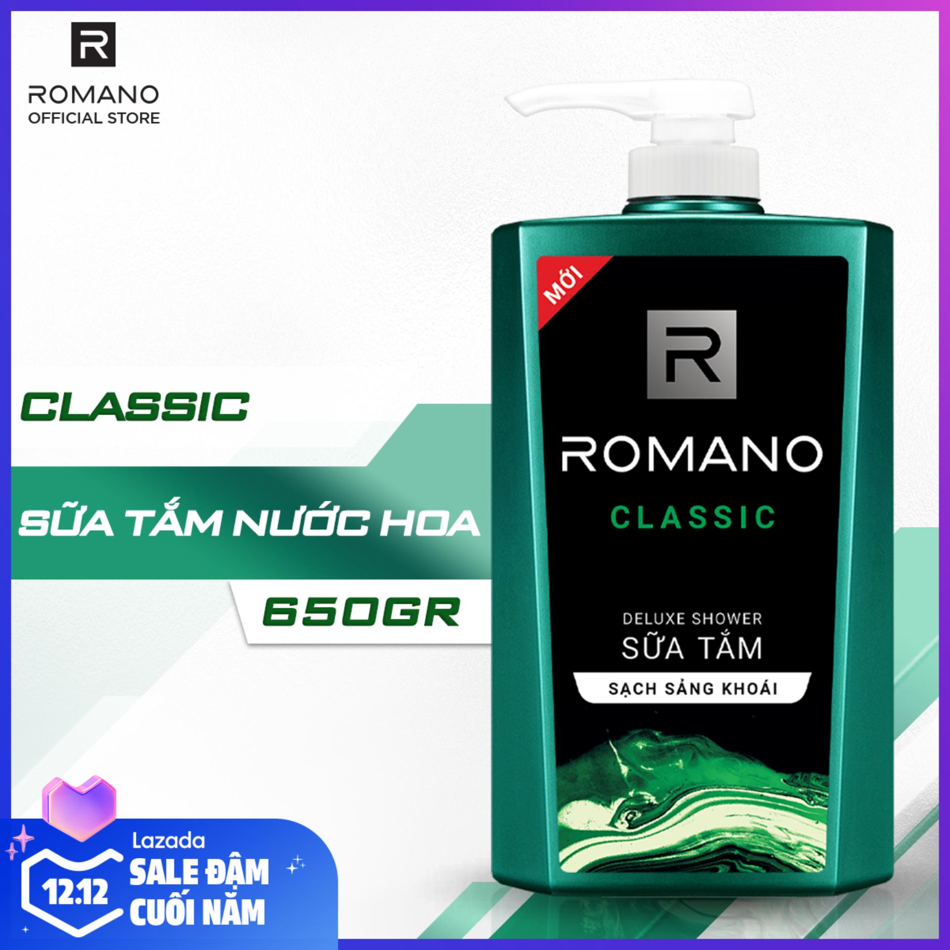 Sữa Tắm Romano Classic 650g Khuyến Mãi Sốc
