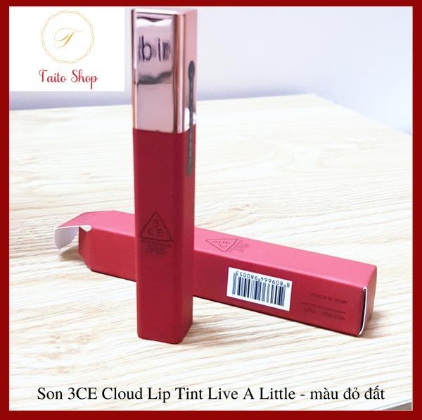 Son kem lì 3CE Cloud Lip Tint Live A Little - màu đỏ đất giá rẻ