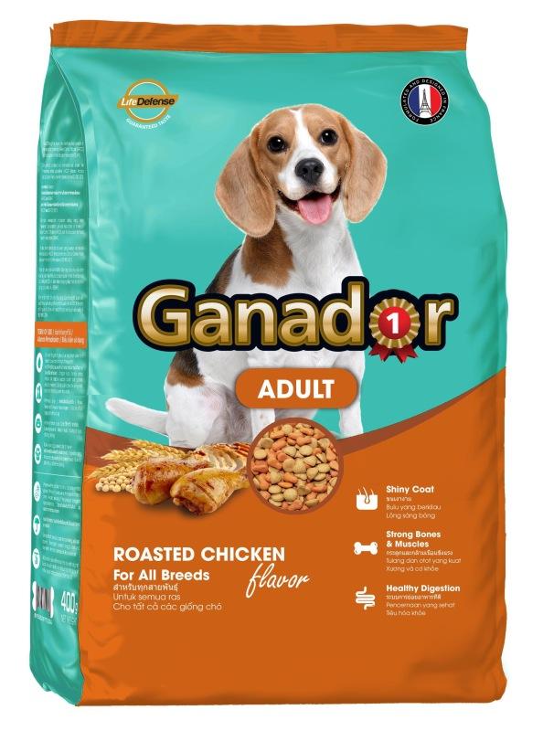 Hanpet-   Ganador Adult Roasted Chicken - Gói 400g Thức ăn cho chó trưởng thành hương vị gà nướng