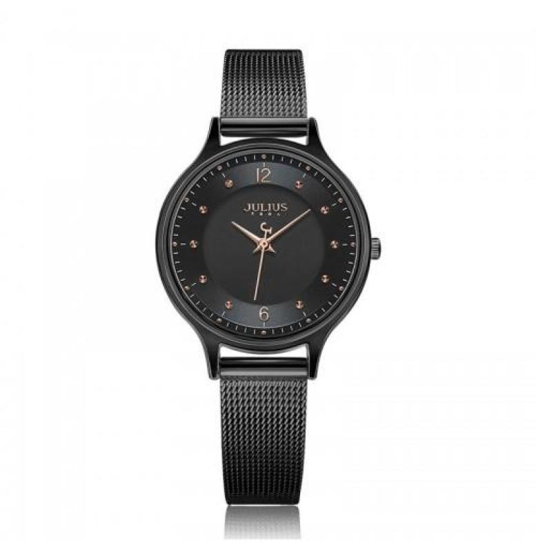 Đồng hồ nữ Julius JA-1060 dây thép lụa mặt siêu mỏng