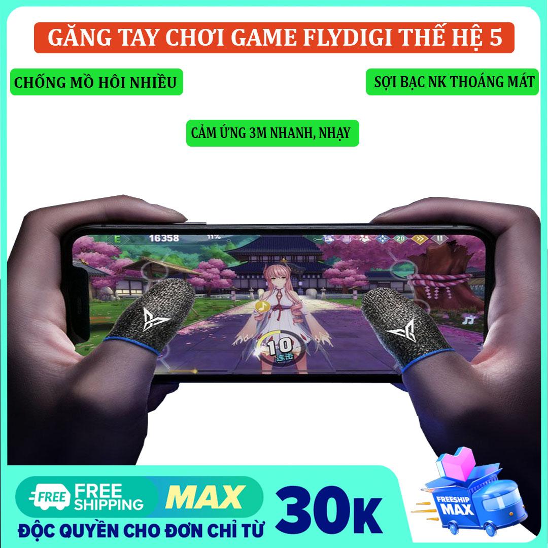 (MUA 1 TẶNG 1)Găng tay chơi game Flydigi Wasp Feelers 5 chống mồ hôi cho điện thoại - Găng tay chơi pubg mobile, free fire, liên quân mobile cảm ứng mượn nhạy hơn, in nhiệt 3M mới  - HÀNG CHÍNH HÃNG