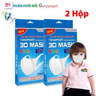 Combo 2 Hộp Khẩu Trang Y Tế 3D Mask Tanaphar Trẻ Em ngăn chặn 99% virus phát tán trong không khí bảo vệ sức khỏe cho bé ( 10 chiếc Hộp ) - Guty Smart thumbnail