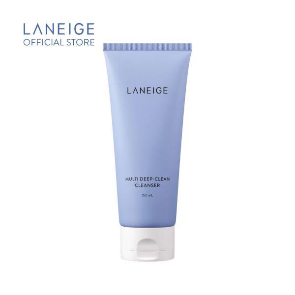 Sữa rửa mặt sạch sâu cho da dầu và da hỗn hợp Laneige Multi Deep Clean Cleanser 150Ml cao cấp