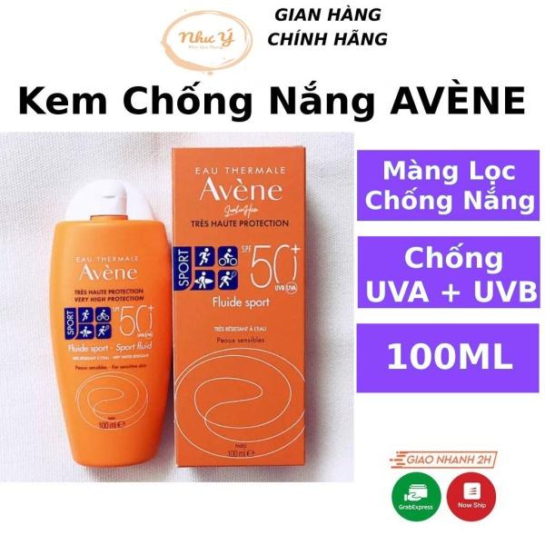 Kem chống nắng AVÈNE Sort Fluid SPF50+ Dành cho da dầu mụn nhạy cảm khô hỗn hợp nâng toone không trôi Bigky Beauty