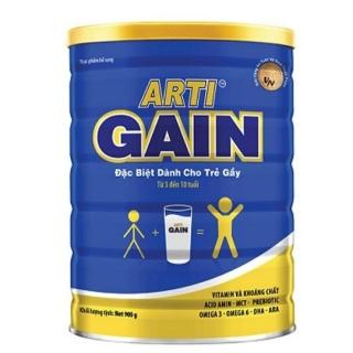 Sữa Arti Gain Xanh Dành cho trẻ Gầy 3-10 tuổi 900g (Cam kết chính hãng, Date mới) thumbnail