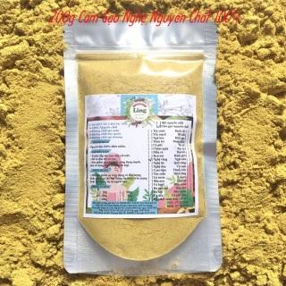 Bột Cám gạo nghệ 100g-200g có giấy VSATTP và ĐKKD nguyên chất thiên nhiên 100% dùng để đắp mặt đa công dụng thumbnail
