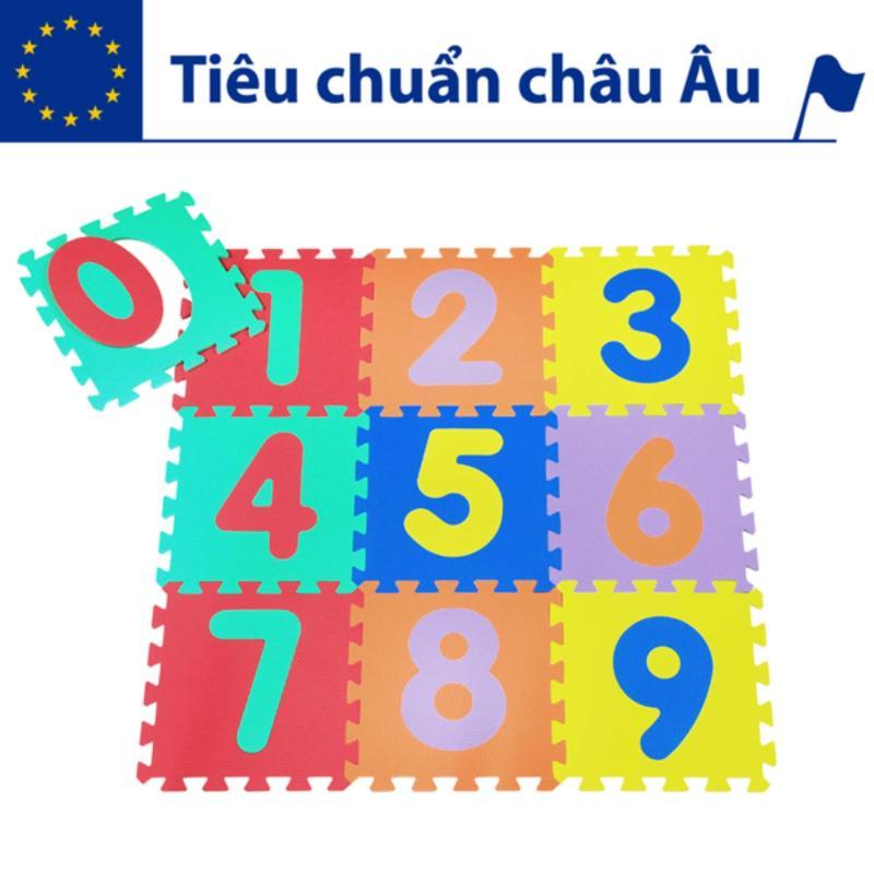 Thảm xốp lót sàn cho bé - chữ số (10 miếng, diện tích 1m2) Smile Puzzle
