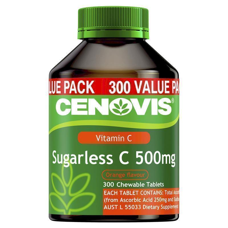 Vitamin C không đường Cenovis 500mg Sugarless, 300 viên