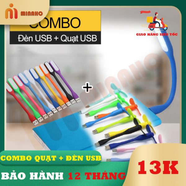 Bảng giá Đèn USB + Quạt USB mini Minaho - Đèn siêu sáng, quạt siêu mắt có thể sử dụng bằng Laptop, sạc dự phòng, sạc điện thoại bảo hành 1 đổi 1 Phong Vũ