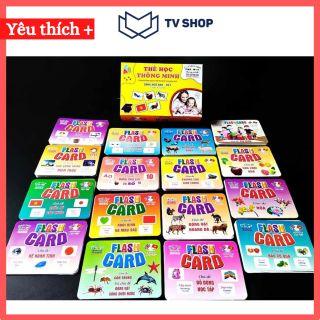 Bộ Thẻ Học Thông Minh 18 Chủ Đề TGXQ loại TO song ngữ A-V loại chuẩn Glenn Doman Flashcard cho bé từ 0-6 tuổi thumbnail