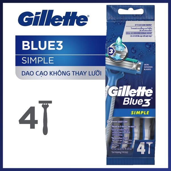Dao cạo râu Gillette Blue 3 Simple 4S nhập khẩu