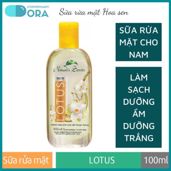 Sữa rửa mặt nam dưỡng ẩm trắng da Lotus Extract Facial Cleansing Gel 100ml