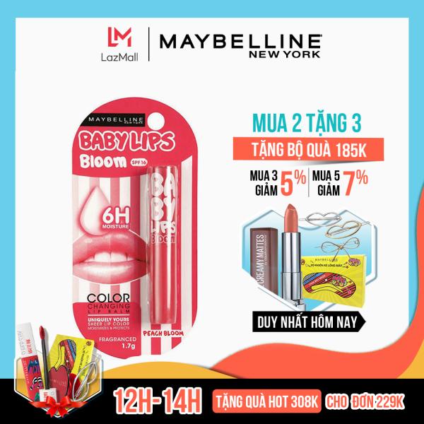 Son dưỡng môi Baby Lips Bloom Maybelline New York chống nắng SPF 16 (có màu) 1.7g giá rẻ