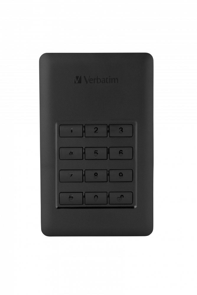 Giá Ổ cứng di động Verbatim 2.5 USB 3.0 w/Keypad Access 2 TB (Đen)