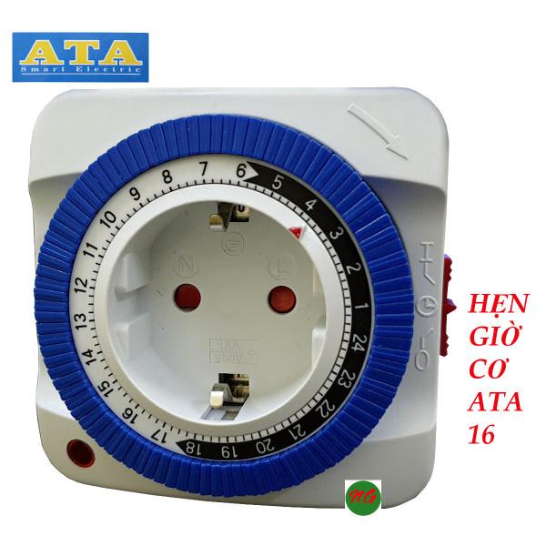 Ổ cắm hẹn giờ cơ ATA AT-16 . Hẹn giờ tắt mở tự động thiết bị điện. giá rẻ