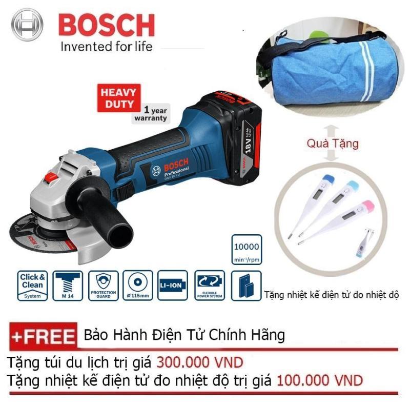 Máy mài góc dùng pin Bosch GWS 18V-LI SET + Quà tặng balo du lịch