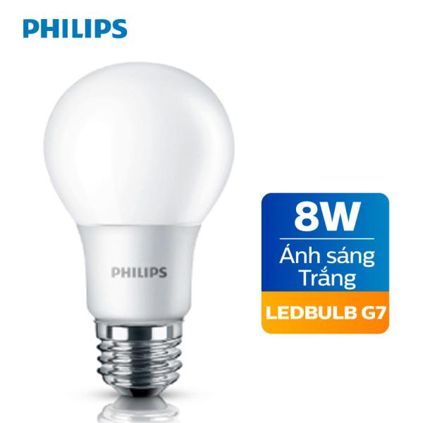 Bóng đèn Philips LED cao cấp siêu sáng tiết kiệm điện 8W E27 A60 - Ánh sáng trắng / Ánh sáng vàng