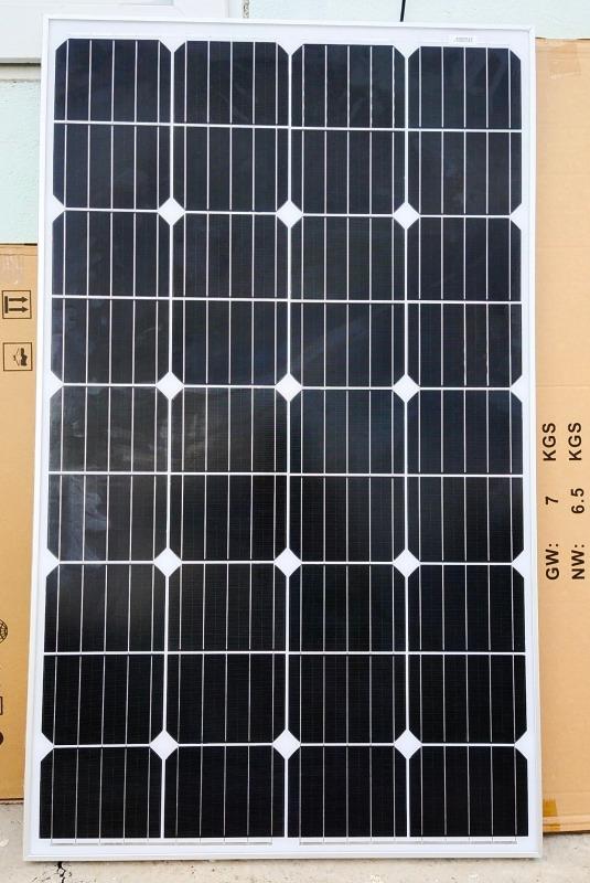 Tấm pin năng lượng mặt trời 120W MONO + Tặng Jack MC 4