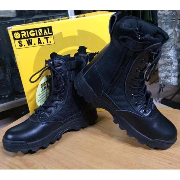 Giày Chiến Thuật SWAT - Giày Boot Nam Cao Cổ Phong Cách Quân Đội Đậm Chất LÍNH giá rẻ