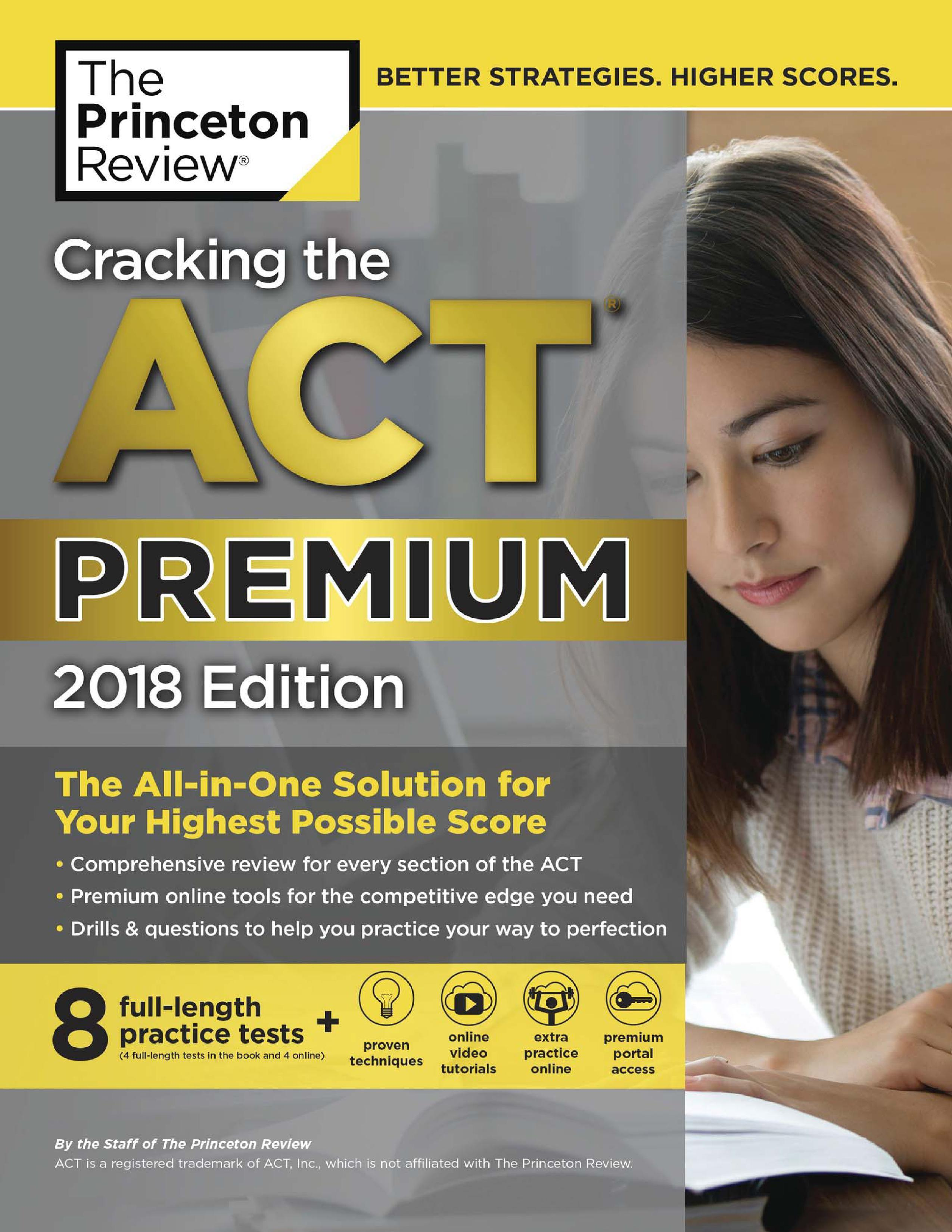 Cracking the ACT Premium Edition with 8 Practice Tests, 2018 Nhật Bản