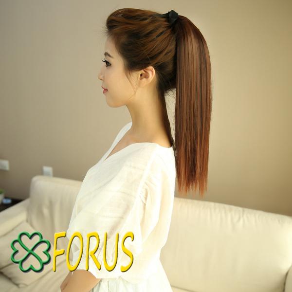 Tóc giả cột thẳng, buộc tóc giả, buộc đuôi thẳng 50cm D13
